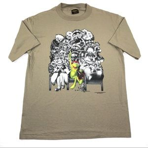 Vintage Kermit The Frog T Shirt The Muppets 90s L
